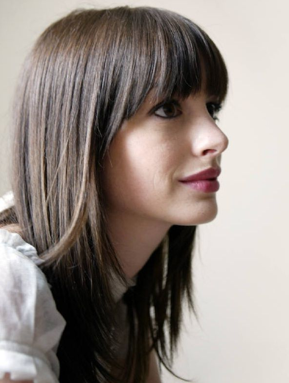 50 Best Hairstyles For Thin Hair | Herinterest/ Regarding Haircuts For Long Fine Hair With Bangs (View 6 of 25)