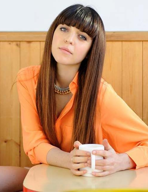 50 Best Long Hair With Bangs Looks For Women – 2019 For Short Fringe Long Hairstyles (View 8 of 25)