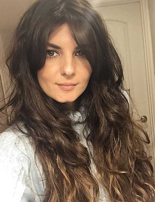 50 Best Long Hair With Bangs Looks For Women – 2019 Inside Long Hairstyles Side Bangs (View 13 of 25)