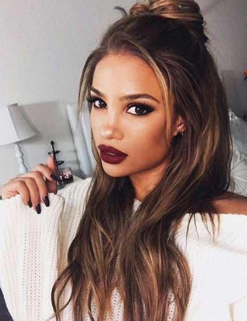 50 Best Long Hair With Bangs Looks For Women – 2019 Within Long Haircuts Side Bangs (View 18 of 25)