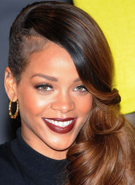 50 Best Rihanna Hairstyles Pertaining To Shaved Side Prom Hairstyles (View 16 of 25)