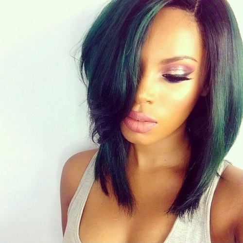50 Bob Hairstyles For Black Women | Hairstyles Update Inside Long Layered Black Haircuts (View 24 of 25)