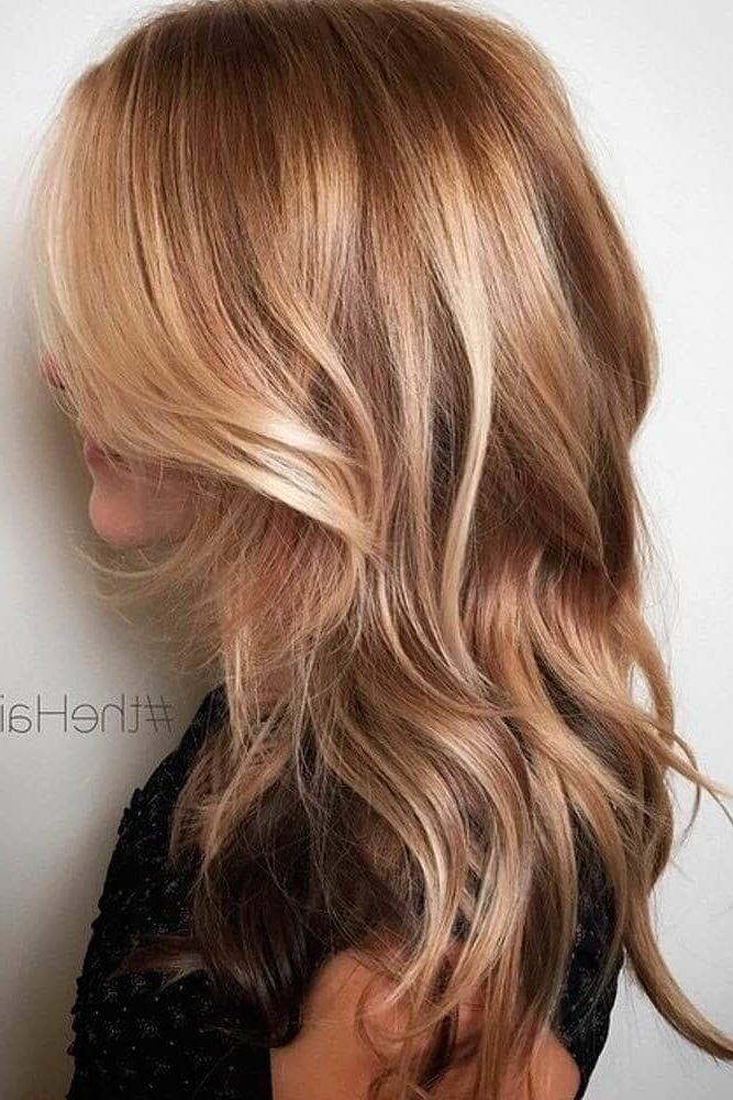 50 Bombshell Blonde Balayage Hairstyles That Are Cute And Easy For 2019 With Regard To Long Hairstyles With Blonde Highlights (View 24 of 25)