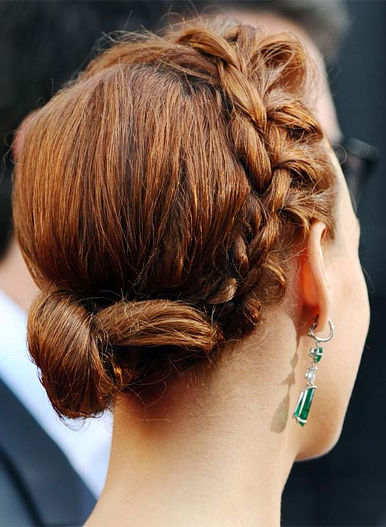 50 Braided Hairstyles That Are Perfect For Prom Inside Spirals Side Bun Prom Hairstyles (View 5 of 25)
