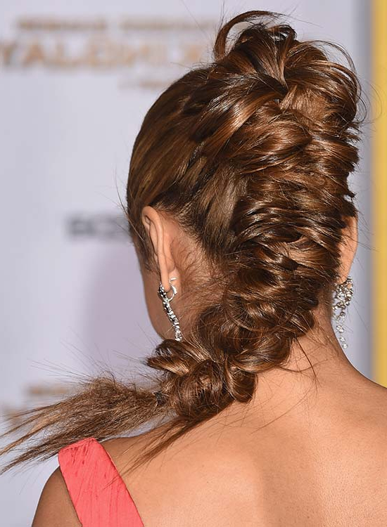 50 Braided Hairstyles That Are Perfect For Prom Throughout Bun And Three Side Braids Prom Updos (View 7 of 25)
