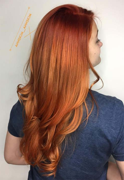 50 Copper Hair Color Shades To Swoon Over | Fashionisers© Within Long Hairstyles With Color (View 11 of 25)