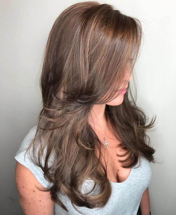 50 Cute And Effortless Long Layered Haircuts With Bangs In Effortlessly Layered Long Hairstyles (View 22 of 25)