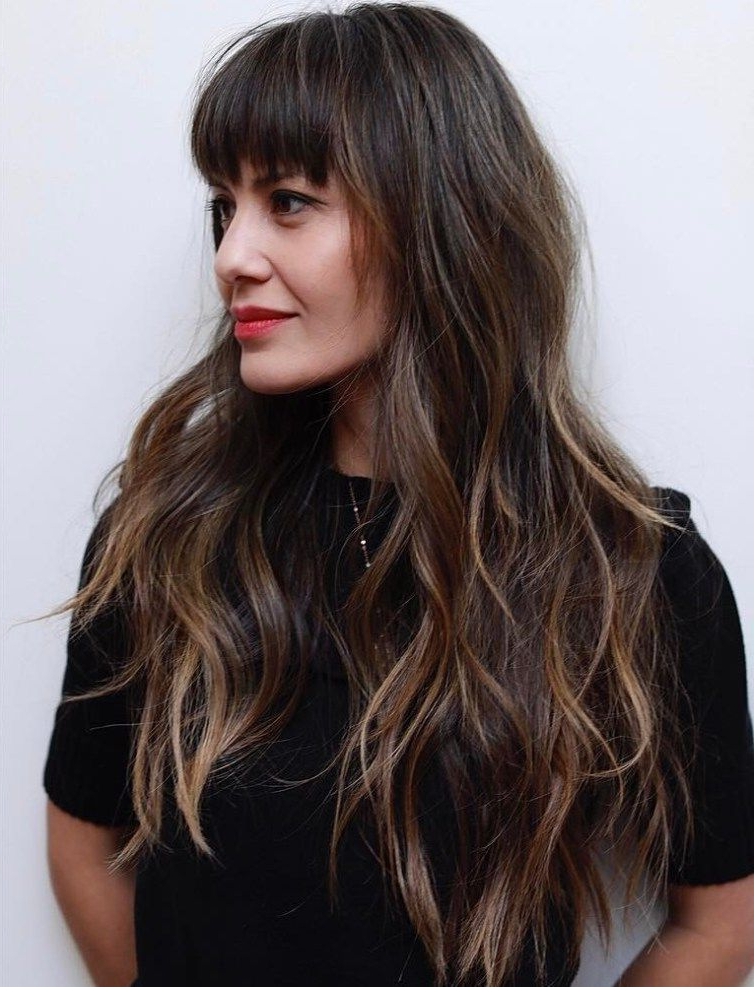 50 Cute And Effortless Long Layered Haircuts With Bangs | Magnifique With Regard To Cute Long Haircuts With Bangs (View 3 of 25)