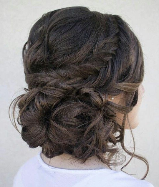 Featured Photo of Messy Bun Prom Hairstyles With Long Side Pieces