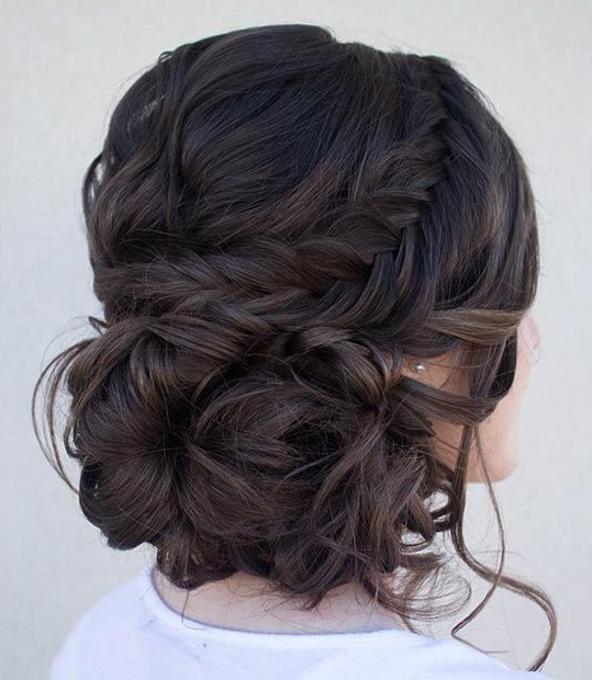 50 Cute And Trendy Updos For Long Hair | Stayglam Hairstyles For Braid And Fluffy Bun Prom Hairstyles (View 5 of 25)