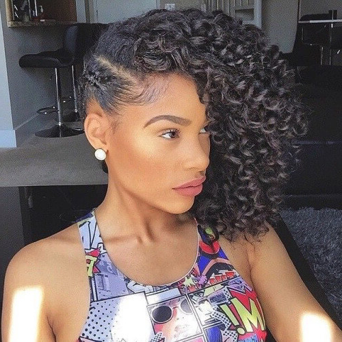 50 Cute Natural Hairstyles For Afro Textured Hair | Hair Motive Hair In Long Hairstyles Naturally Curly Hair (View 13 of 25)