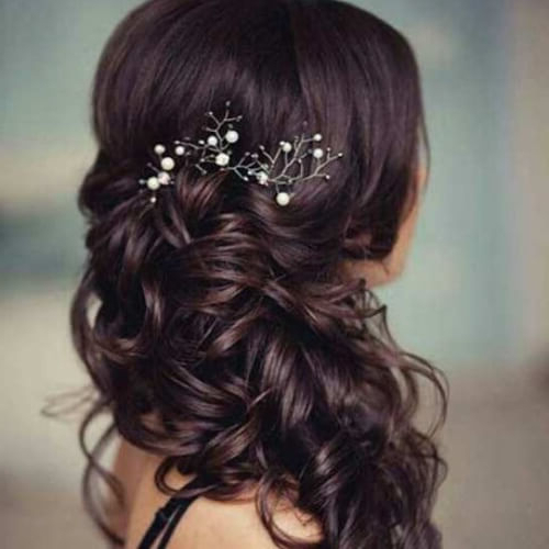 50 Delicate Bridesmaid Hairstyles | Hair Motive Hair Motive Pertaining To Long Hairstyles For Bridesmaids (View 25 of 25)