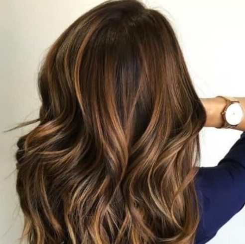 50 Delicious Dark Hair With Caramel Highlights Ideas | All Women Regarding Warm Toned Brown Hairstyles With Caramel Balayage (View 21 of 25)