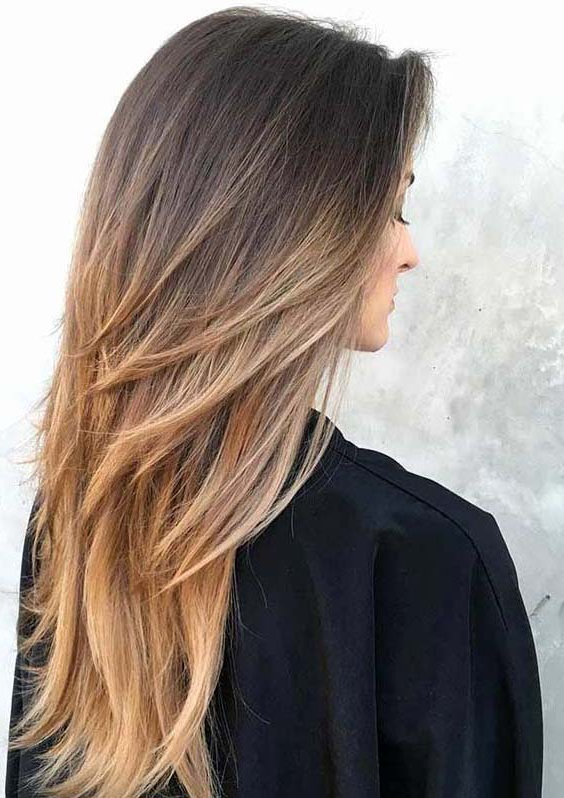 50 Fantastic Long Layered Ombre Hairstyles For Women 2018 | Pertaining To Long Layered Ombre Hairstyles (View 4 of 25)