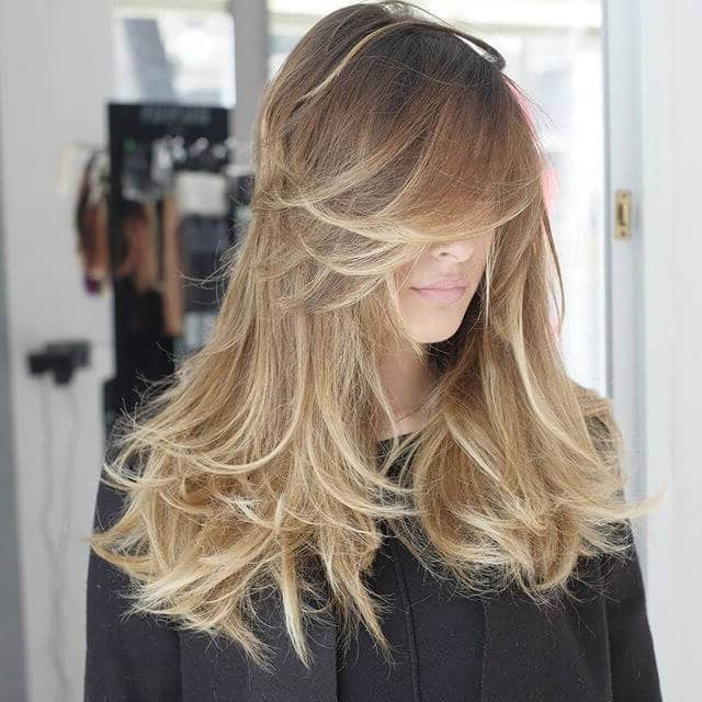 50 Fresh Hairstyle Ideas With Side Bangs To Shake Up Your Style In Swoopy Flipped Layers For Long Hairstyles (View 7 of 25)