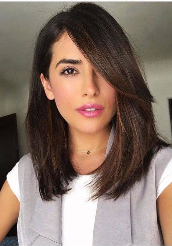 50 Fresh Hairstyle Ideas With Side Bangs To Shake Up Your Style With Regard To Long Haircut With Side Swept Bangs (View 5 of 25)