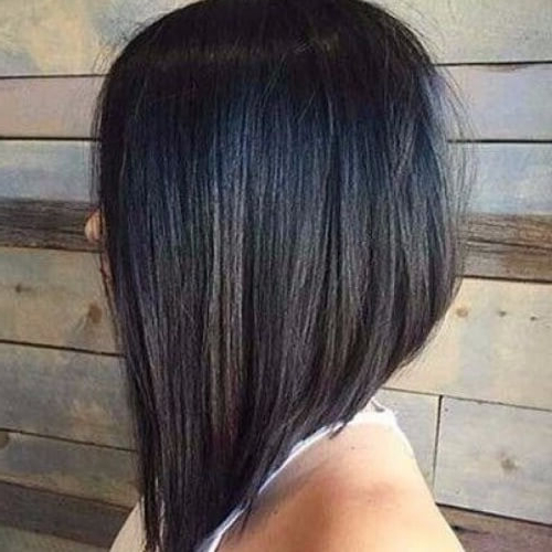 50 Glamorous Stacked Bob Hairstyles – My New Hairstyles In Long Choppy Haircuts With A Sprinkling Of Layers (View 25 of 25)