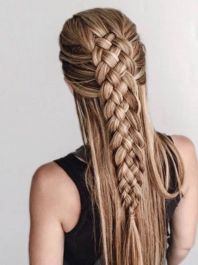 50 Gorgeous Braids Hairstyles For Long Hair Regarding Long Hairstyles Braids (View 10 of 25)