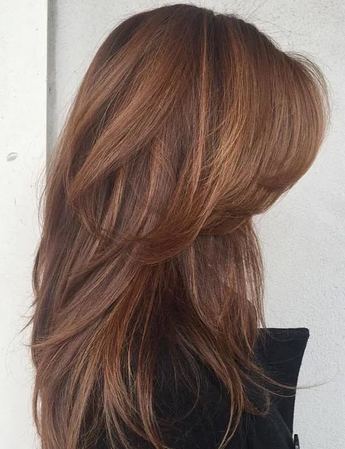 50 Gorgeous Long Layered Hairstyles For Waist Length Brunette Hairstyles With Textured Layers (View 18 of 25)