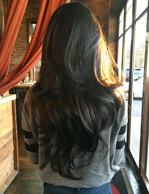 50 Gorgeous Long Layered Hairstyles Regarding Reddish Brown Hairstyles With Long V Cut Layers (View 16 of 25)