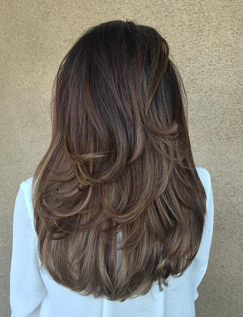 50 Gorgeous Long Layered Hairstyles Within Long Layered Brunette Hairstyles With Curled Ends (View 21 of 25)