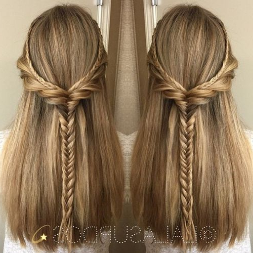 50 Half Updos For Your Perfect Everyday And Party Looks | Random With Updos For Long Thick Straight Hair (View 11 of 25)