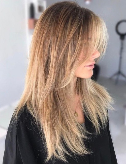50 Long Shag Haircuts   Hairstyles Update Throughout Long Hairstyles With Long Bangs (View 24 of 25)