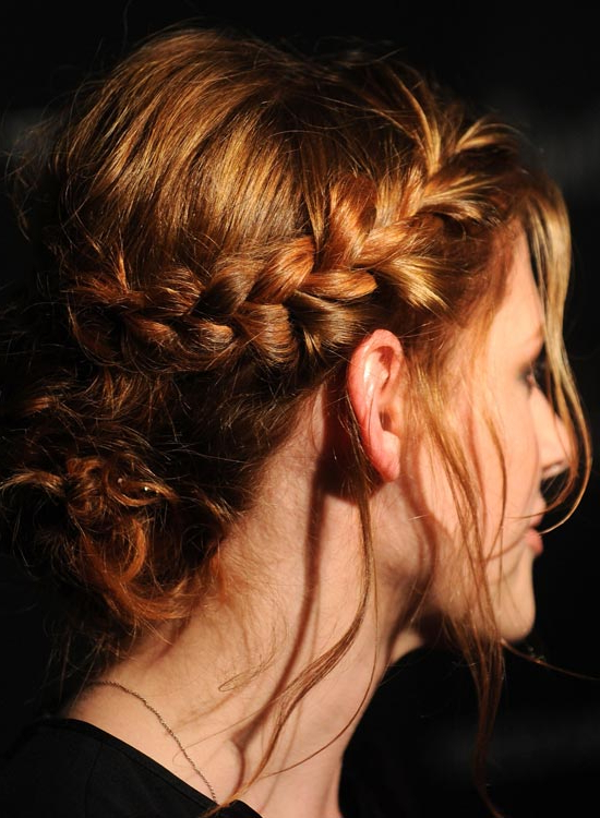 50 Lovely Bun Hairstyles For Long Hair In Braid And Fluffy Bun Prom Hairstyles (View 22 of 25)
