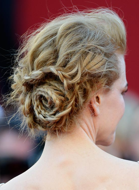 50 Lovely Bun Hairstyles For Long Hair Intended For Braid And Fluffy Bun Prom Hairstyles (View 17 of 25)