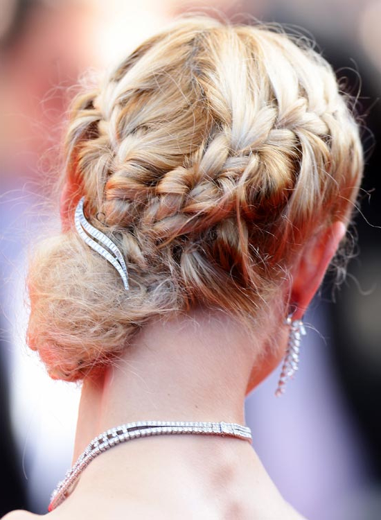 50 Lovely Bun Hairstyles For Long Hair Within Spirals Side Bun Prom Hairstyles (View 7 of 25)