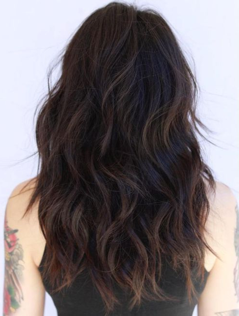 50 Lovely Long Shag Haircuts For Effortless Stylish Looks In 2019 Intended For Bedhead Layers For Long Hairstyles (View 23 of 25)