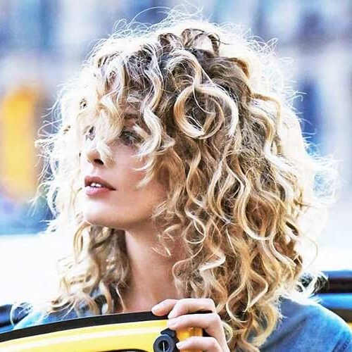 50 Marvelous Perm Ideas For Curly, Wavy Or Straight Hair   Hair Intended For Long Permed Hair With Bangs (View 22 of 25)