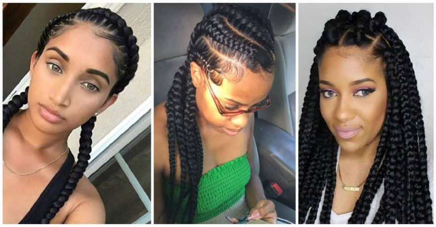 50 Natural Goddess Braids To Bless Ethnic Hair In 2019 Pertaining To Textured Side Braid And Ponytail Prom Hairstyles (View 25 of 25)