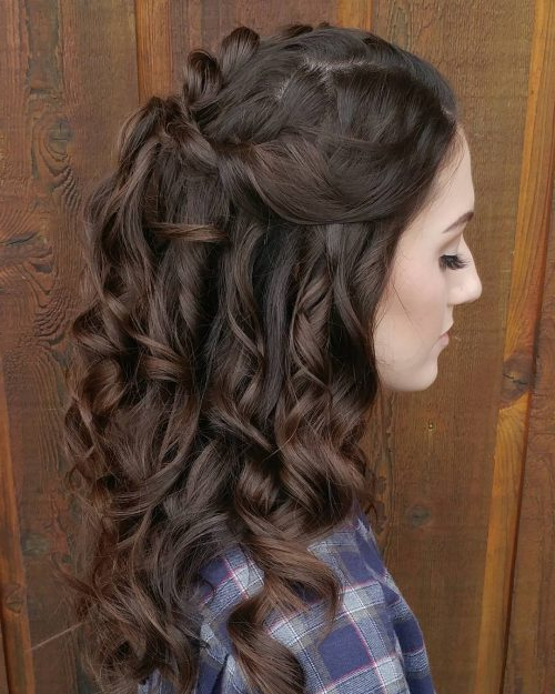 50 Party Hairstyles That Are Fun & Chic For 2019 With Long Hairstyles For Party (View 18 of 25)
