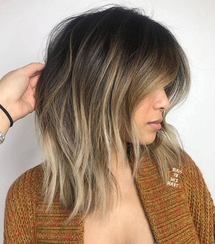 50 Pretty Chic Medium Lenght Hairstyles For 2019 Throughout Medium To Long Hairstyles With Chunky Pieces (View 4 of 25)
