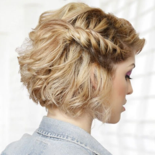 50 Prom Hairstyles For Short Hair | Hair Motive Hair Motive In Twisting Braided Prom Updos (View 10 of 25)
