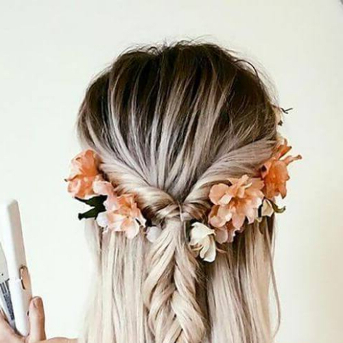 50 Romantic Braid Hairstyles For Long Hair   All Women Hairstyles Throughout Floral Braid Crowns Hairstyles For Prom (View 8 of 25)