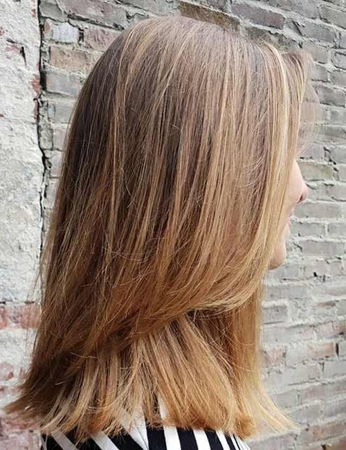 50 Stunning Medium Length Haircuts And Styles For Thick Hair – Top Intended For Two Tier Long Hairstyles (View 22 of 25)