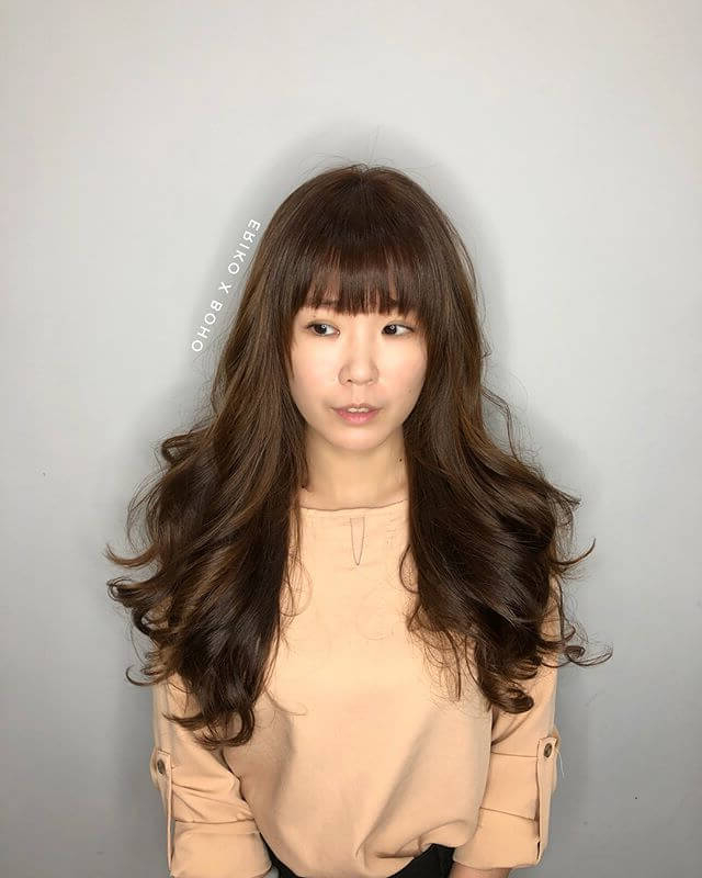 50 Stunning Perm Hair Ideas To Help You Rock Your Curls In 2019 Throughout Long Permed Hair With Bangs (View 12 of 25)