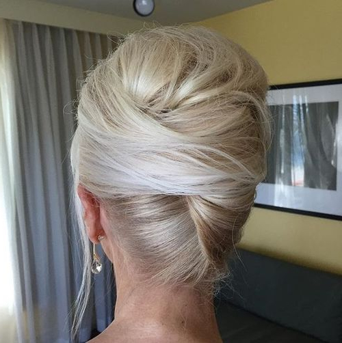 50 Stylish French Twist Updos Intended For Twisted Side Roll Prom Updos (View 19 of 25)
