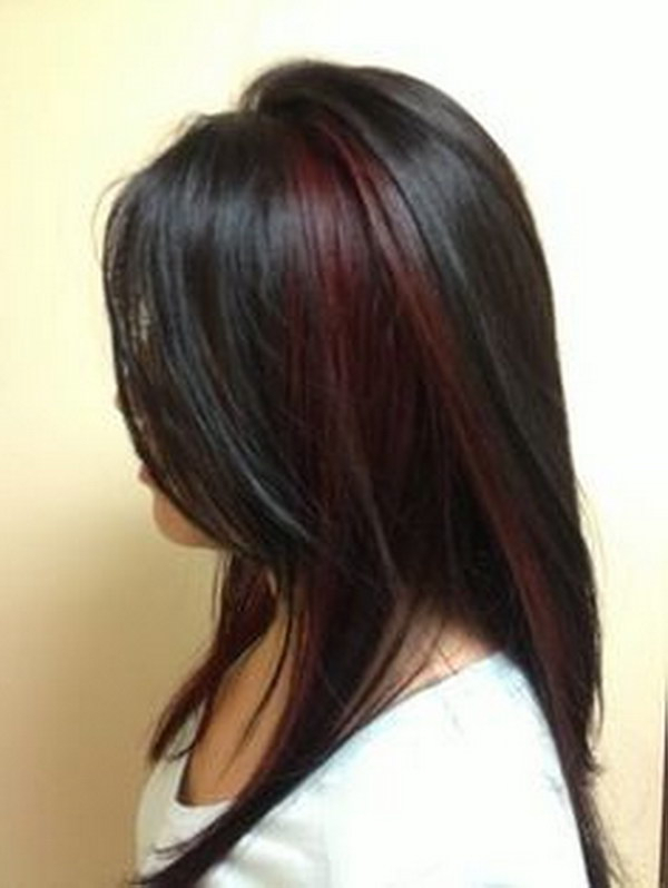 50 Stylish Highlighted Hairstyles For Black Hair 2017 Intended For Long Hairstyles Red Highlights (View 21 of 25)