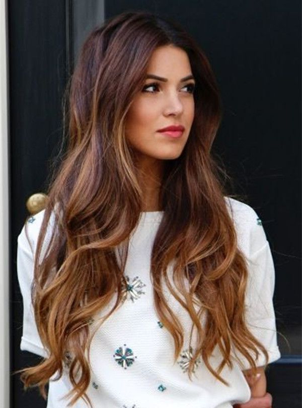 50 Stylish Highlighted Hairstyles For Black Hair 2017 Pertaining To Long Hairstyles Brown With Highlights (View 15 of 25)