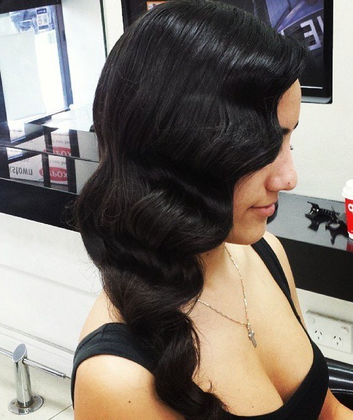 50 Sumptuous Side Hairstyles For Prom To Please Any Taste – Page 20 Intended For Flowing Finger Waves Prom Hairstyles (View 7 of 25)