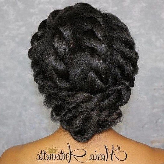 50 Superb Black Wedding Hairstyles | Fashion | Protective Hairstyles With Regard To Elegant Twist Updo Prom Hairstyles (View 19 of 25)