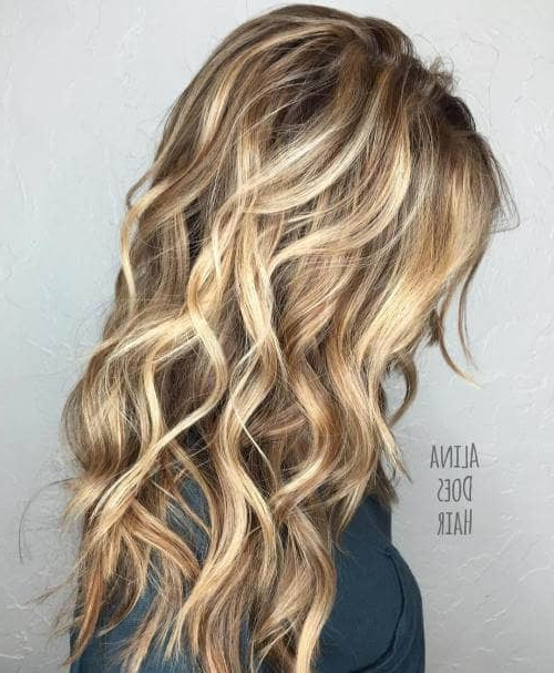 50 Timeless Ways To Wear Layered Hair And Beat Hair Boredom For Waist Length Brunette Hairstyles With Textured Layers (View 7 of 25)