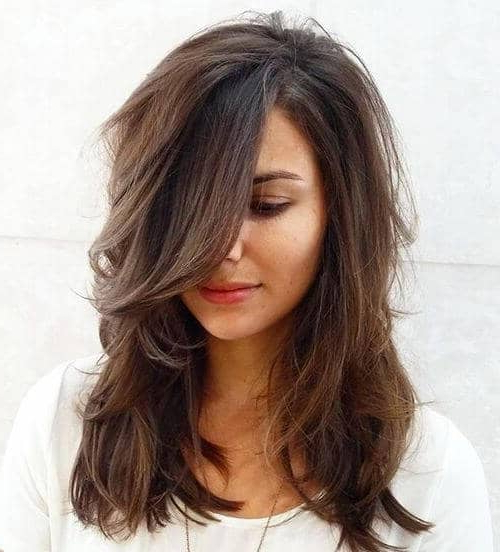 50 Timeless Ways To Wear Layered Hair And Beat Hair Boredom Throughout Long Hairstyles V In Back (View 21 of 25)