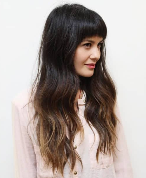 50 Timeless Ways To Wear Layered Hair And Beat Hair Boredom With Long Layered Waves And Cute Bangs Hairstyles (View 14 of 25)