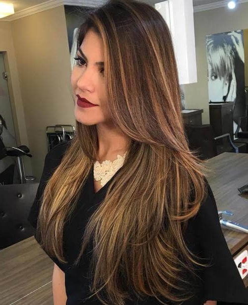 50 Timeless Ways To Wear Layered Hair And Beat Hair Boredom Within Long Hairstyles Layered In Front (View 8 of 25)