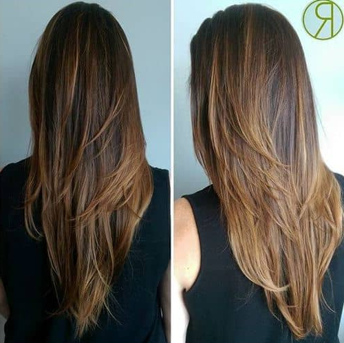 Featured Photo of Waist Length Brunette Hairstyles With Textured Layers
