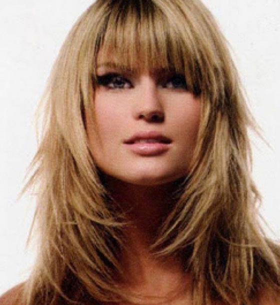 50 Top Hairstyles For Square Faces Inside Long Hairstyles For Square Faces With Bangs (View 6 of 25)